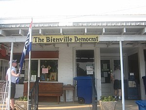 Arcadia, Louisiana - The Bienville Democrat office in Arcadia
