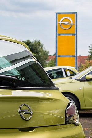 Opel Adam in Billerbeck, North Rhine-Westphalia, Germany