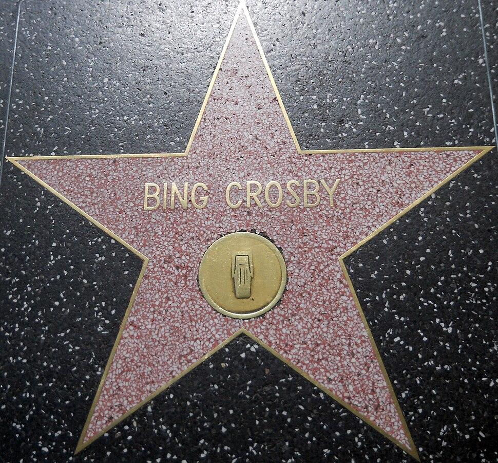Bing Crosby star HWF
