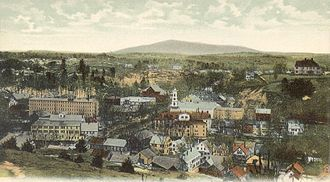 Peterborough, New Hampshire - Bird's-eye view in 1907
