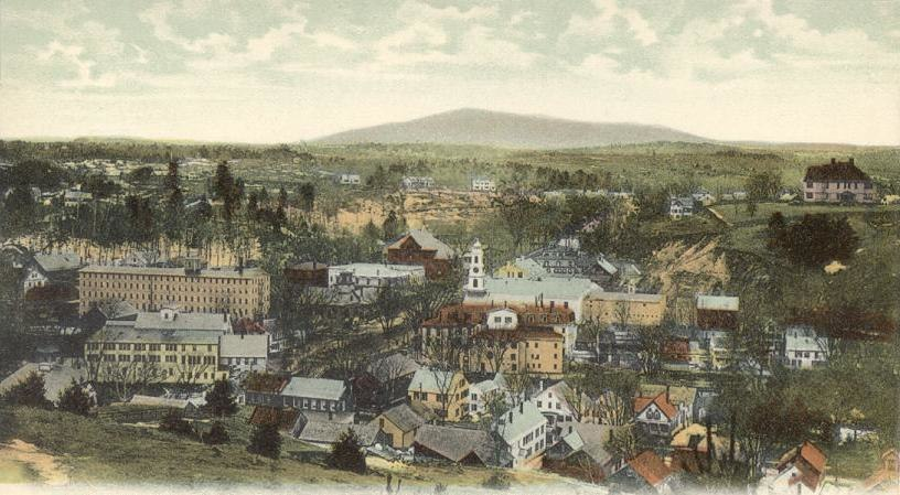Bird's-eye View of Peterborough, NH