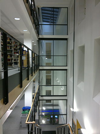 Birkbeck, University of London - The interior of the new library.