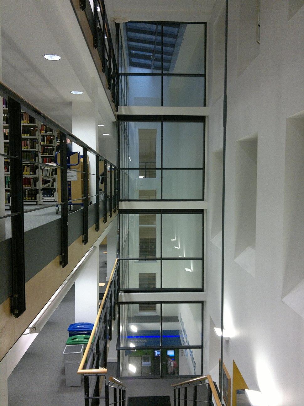 Birkbeck College library interior 11.06.13