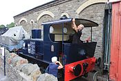 Bitton - Fry's shunter being looked after.JPG
