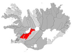 Location of the Municipality of Bláskógabyggð