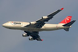Northwest Airlinesin Boeing 747-400