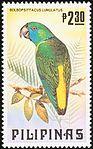 Bolbopsittacus lunulatus 1984 stamp of the Philippines.jpg