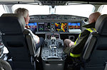 Bombardier CS100 at Brussels Airport (25547496211).jpg