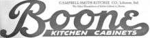 Old logo saying Boone Kitchen Cabinets