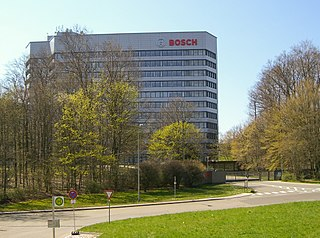 Robert Bosch GmbH German manufacturing company of automotive parts, household appliances, etc.