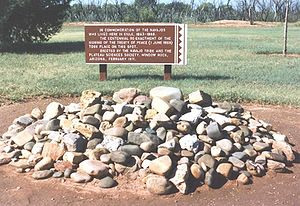 Long Walk of the Navajo - Marker where the Treaty of June 1, 1868 was signed