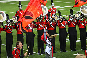 Drum and bugle corps (modern) - Boston Crusaders Drum and Bugle Corps,a DCI World Class corps from Boston, Massachusetts.
