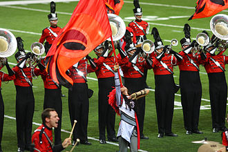 Drum and bugle corps (modern) - Boston Crusaders Drum and Bugle Corps, a DCI World Class corps from Boston, Massachusetts.