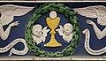 Bottega di andrea della robbia, due angeli adoranti il calice aucaristico, 1490 ca., dalla porta della compagnia del sacramento in s. croce 02.jpg