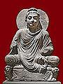 Bouddha sur un trône aux lions (musée d'art asiatique de Dahlem, Berlin) (12521687543).jpg