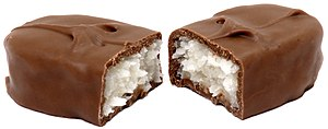 Bounty (chocolate bar) - A Bounty split