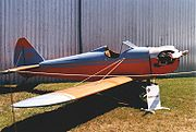 A typical wood and fabric construction amateur-built, the Bowers Fly Baby.
