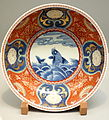 Bowl 2, Imari ware, Edo period, 17th-18th century, stormy seascape design in overglaze enamel - Tokyo National Museum - DSC05316.JPG