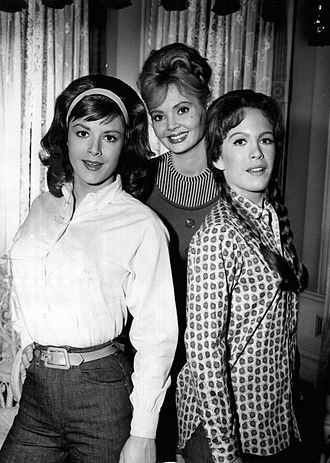 Petticoat Junction - Cast members from season one, L-R: Pat Woodell (Bobbie Jo), Jeannine Riley (Billie Jo) and Linda Kaye Henning (Betty Jo)