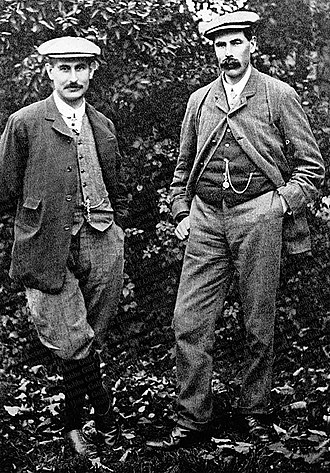 The Open Championship - Harry Vardon, the record holding six-time winner of the Open, with five-time winner James Braid.