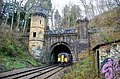 Bramhope Tunnel north portal with train.jpg