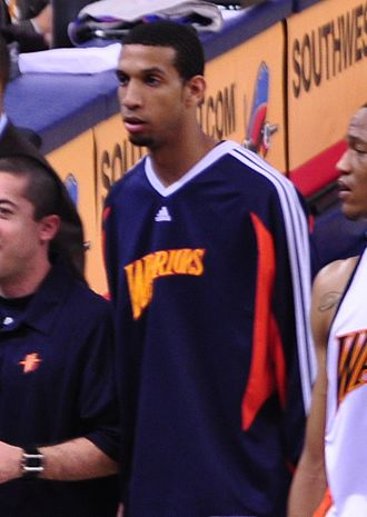 Brandan Wright - Wright before a game as a member of the Warriors in 2009