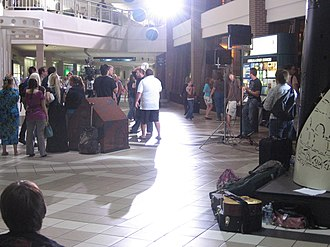 Give Me Your Eyes - The majority of the video filming took place in the lower level baggage claim 2 and 3 areas.