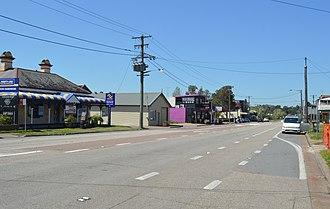 Branxton, New South Wales - New England Highway at Branxton