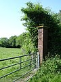 Brick gatepost, Otterden Estate - geograph.org.uk - 183954.jpg