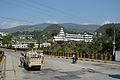 Bridge over River Beas and Bhima Kali Mandir - Chandigarh-Manali Highway - NH-21 - Bhiuli - Mandi 2014-05-09 2145.JPG
