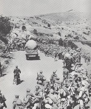 Monastir Offensive - General Dieterichs' Russian brigade on the march in Macedonia.
