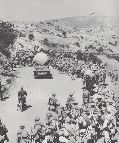 General Dieterichs' Russian brigade on the march in Macedonia Brigade dieterichs.jpg