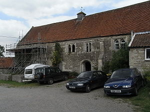 Robert Willoughby, 1st Baron Willoughby de Broke - Mediaeval wing of Brook Hall, 2011, remnant of the manor house built by Robert Willoughby
