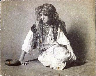 Muslim Roma - Costume of a Romani woman (most likely Muslim Roma).