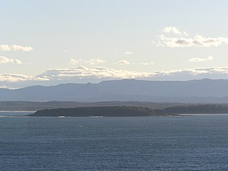 Broulee, New South Wales - Broulee Island looking south from Burri Point