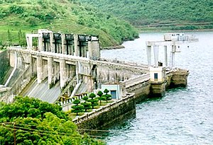 Bhadra River - Bhadra River Project Dam near Bhadravathi