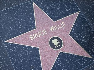 Bruce Willis' star on the Hollywood Walk of Fame.