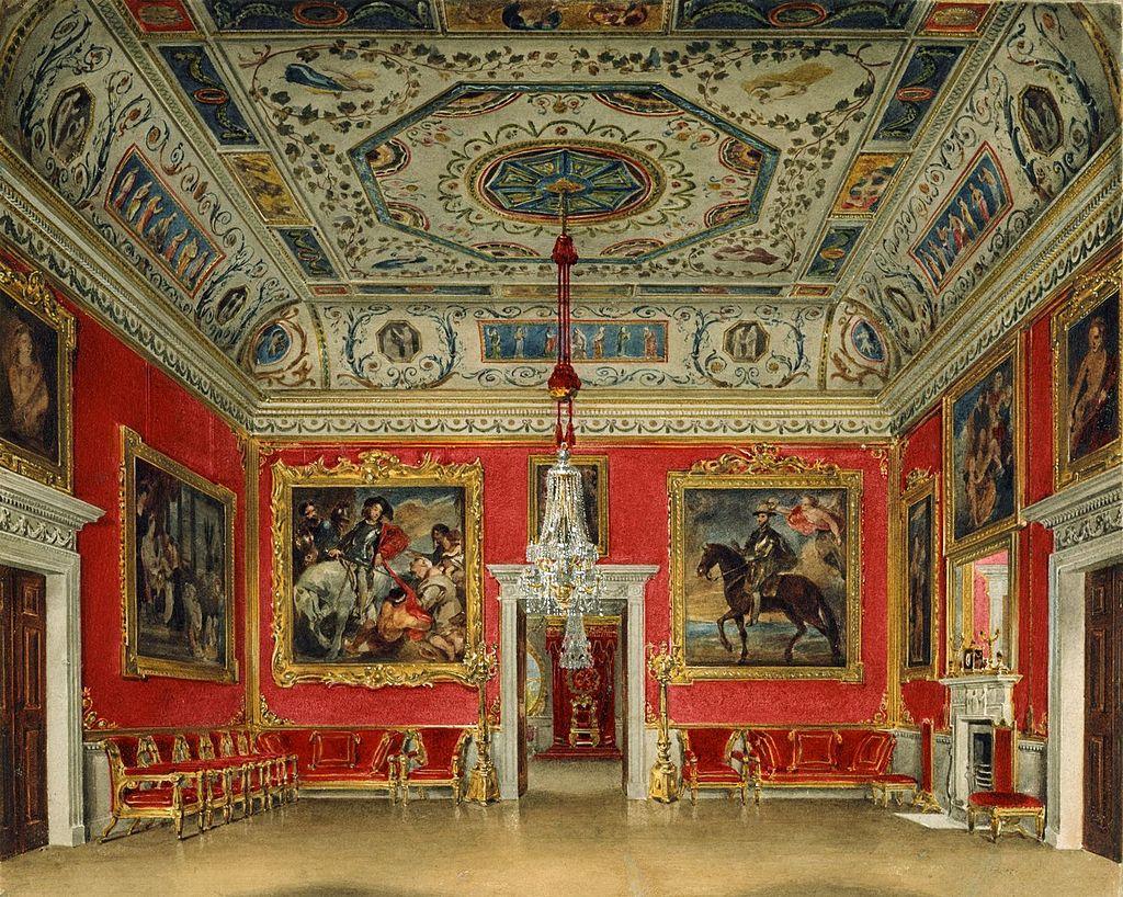 Букингемский дом, малиновая гостиная, Джеймс Стефанофф, 1817 - королевский колл 922142 257070 ORI 0.jpg