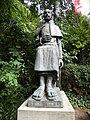 Bucuresti, Romania, Muzeul Theodor Pallady, (Casa Melik), Str. Spatarului nr. 22 (statuia lui Theodor Pallady in gradina 2); B-II-m-A-19723.JPG