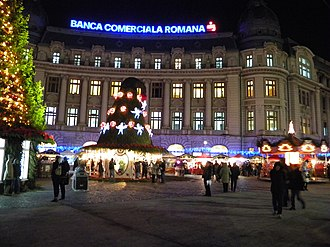 University Square, Bucharest - University Square during the Christmas of 2013