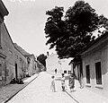 Budapest I., Tabán, Ív utca, jobbra a Buvár utca torkolata. Fortepan 86744.jpg