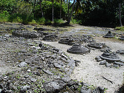 The remains of ancient Buddhist temples from the pre-Islamic period on the island of Kaashidhoo in the Maldives
