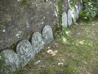 Budock Water - Quaker gravestones at Budock