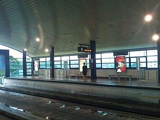 Bukit Panjang MRT/LRT station - The LRT Platform of Bukit Panjang without the half platform screen doors.