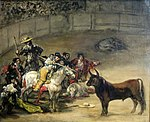 Bullfight, Suerte de Varas by Francisco de Goya, 1824, Getty Center.JPG