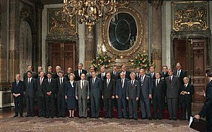 European Council - A traditional group photo, here taken at the royal palace in Brussels during Belgium's 1987 Presidency