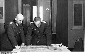 Ernst August Köstring - Köstring (right) along with Hans Krebs (1941)