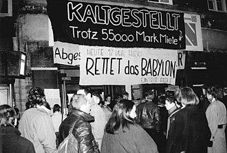 Kino Babylon - Demonstration against the closure of the cinema, 9 January 1990