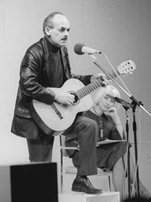 Okudzhava performing at Palace of the Republic, East Berlin, East Germany, 1976