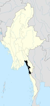 Location of Mon State in Burma